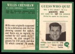 1966 Philadelphia #160  Willis Crenshaw  Back Thumbnail