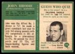 1966 Philadelphia #173  John Brodie  Back Thumbnail