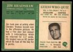 1966 Philadelphia #146  Jim Bradshaw  Back Thumbnail