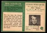 1966 Philadelphia #50  Dick Schafrath  Back Thumbnail