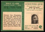 1966 Philadelphia #148  Mike Clark  Back Thumbnail