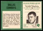 1966 Philadelphia #53   Cowboys Team Back Thumbnail