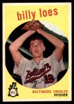 1959 Topps #336 TR Billy Loes  Front Thumbnail