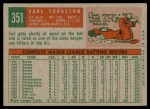 1959 Topps #351  Earl Torgeson  Back Thumbnail