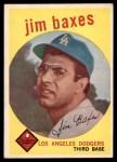 1959 Topps #547  Jim Baxes  Front Thumbnail