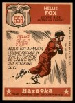 1959 Topps #556   -  Nellie Fox All-Star Back Thumbnail
