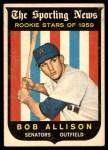 1959 Topps #116  Bob Allison  Front Thumbnail