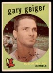 1959 Topps #521  Gary Geiger  Front Thumbnail