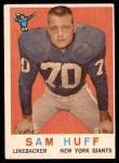 1959 Topps #51  Sam Huff  Front Thumbnail