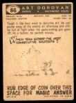 1959 Topps #86  Art Donovan  Back Thumbnail