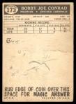 1959 Topps #173  Bobby Joe Conrad  Back Thumbnail