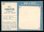 1961 Topps #46  Bill Forester  Back Thumbnail
