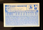 1976 Kellogg's #2  Claudell Washington  Back Thumbnail