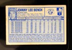 1976 Kellogg's #36  Johnny Bench  Back Thumbnail