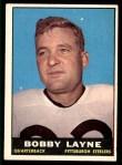 1961 Topps #104  Bobby Layne  Front Thumbnail