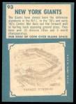 1961 Topps #93   Giants Team Back Thumbnail