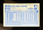 1976 Kellogg's #1  Steve Hargan  Back Thumbnail