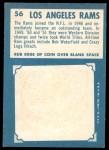 1961 Topps #56   Rams Team Back Thumbnail