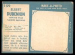 1961 Topps #159  Elbert Dubenion  Back Thumbnail