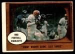 1961 Topps #77   -  Jim Brown 1960 Football Highlights Front Thumbnail