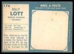1961 Topps #176  Billy Lott  Back Thumbnail