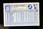 1976 Kellogg's #6  Clay Carroll   Back Thumbnail