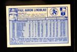 1976 Kellogg's #52  Paul Lindblad  Back Thumbnail