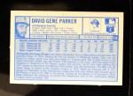 1976 Kellogg's #15  Dave Parker  Back Thumbnail