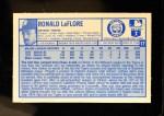 1976 Kellogg's #17  Ron LeFlore  Back Thumbnail
