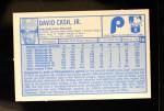 1976 Kellogg's #16  Dave Cash  Back Thumbnail