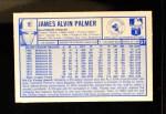 1976 Kellogg's #37  Jim Palmer  Back Thumbnail