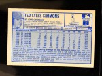 1976 Kellogg's #57  Ted Simmons  Back Thumbnail