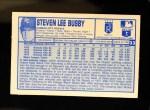 1976 Kellogg's #33  Steve Busby  Back Thumbnail