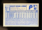 1976 Kellogg's #18  Greg Luzinski  Back Thumbnail