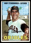 1967 Topps #457  Andy Etchebarren  Front Thumbnail