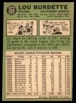 1967 Topps #265  Lew Burdette  Back Thumbnail
