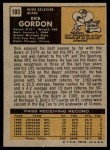 1971 Topps #103  Dick Gordon  Back Thumbnail