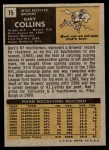 1971 Topps #75  Gary Collins  Back Thumbnail