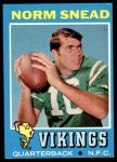 1971 Topps #184  Norm Snead  Front Thumbnail