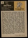 1971 Topps #16  Bob Brown  Back Thumbnail