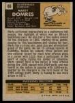 1971 Topps #66  Marty Domres  Back Thumbnail