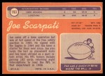 1970 Topps #193  Joe Scarpati  Back Thumbnail