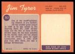 1970 Topps #263  Jim Tyrer  Back Thumbnail