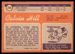 1970 Topps #260 RED Calvin Hill   Back Thumbnail