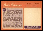 1970 Topps #178  Bob Brown  Back Thumbnail