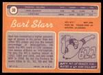 1970 Topps #30  Bart Starr  Back Thumbnail