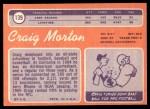 1970 Topps #139  Craig Morton  Back Thumbnail