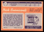1970 Topps #244  Nick Buoniconti  Back Thumbnail