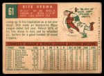 1959 Topps #61  Dick Brown  Back Thumbnail