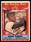 1959 Topps #561   -  Hank Aaron All-Star Front Thumbnail